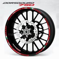 Dorsoduro 750 motorcycle wheel decals 12 rim stickers stripes aprilia Laminated