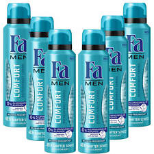 ( 18,83€/ L) 6x 150ml FA men DESODORANTE Comfort REFRESHING Caring 0% Aluminio