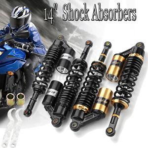360mm 14'' Motorcycle Rear Air Shock Absorbers For Yamaha Honda ATV Dirt