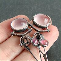 Trendy 925 Silver Moonstone Ear Hook Dangle Drop Wedding Jewelry Party Earrings