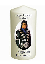 Cellini Candles Michael Jackson Unique  Message Personalised Gift Card #1