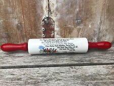 More details for vintage advertising pottery rolling pin widecombe fair devon ware tom pearce