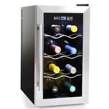 NutriChef Electric Wine Cooler - Wine Chilling Refrigerator Cellar (8-Bottle) (P