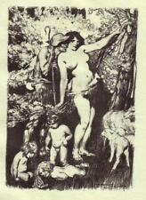 NORMAN LINDSAY  'THE ELVES OF SPRING'  1928  ORIGINAL LIMITED EDITION OF 550