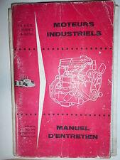 Ford moteurs industriel essence diesel - 4 et 6 cyl : notice d'entretien 1964