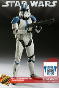 "MILITARIES OF STAR WARS: 12"" 501st LEGION CLONE TROOPER - SIDESHOW EXCLUSIVE NEW"