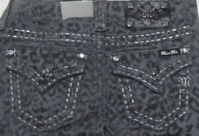 Miss Me Cargo Grey Leopard Print  Skinny Jeans Size 25