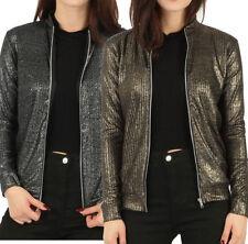 Unbranded Regular Size Bomber Coats, Jackets & Vests for Women