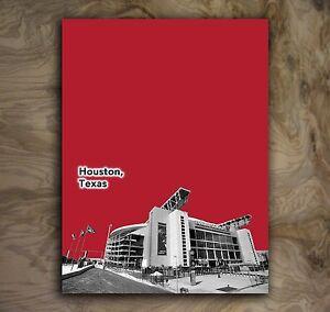 "Houston Texans Football Art Sports Poster NFL Print Rare Hot New 12x16"""
