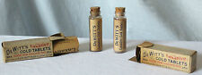 """Antique DEWITT'S LAXATIVE COLD TABLETS """"Good For Coughs Too"""" by C.E. Dewitt & Co"""
