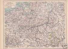 BELGIEN Luxemburg Flandern Brabant LANDKARTE von 1898