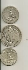 *90% Silver USA Coins Lot $1 face value Shiny Quarters & W Liberty Half Dollar