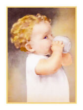 Bessie Pease Gutmann Blond Baby with Sippy Cup Counted Cross Stitch  Pattern