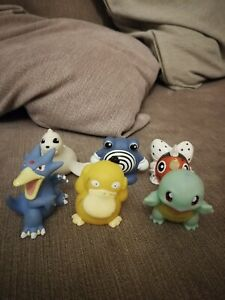 Pokemon Kid Figures Lot Psyduck Golduck Poliwhirl Seaking Dewgong Squirtle