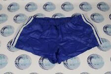 VINTAGE 1970'S 1980'S FOOTBALL SOCCER SHORTS BLUE WHITE ADIDAS MEN XL L