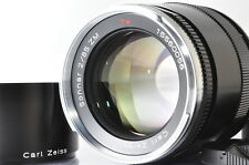 [MINT]Carl Zeiss Sonnar T* 85mm F/2 ZM Lens For Leica M Mount w/Hood #2430