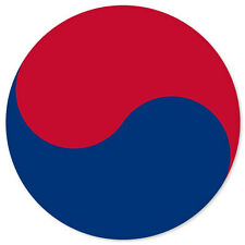 "Taegeuk Flag car bumper sticker window decal 5"" x 5"""