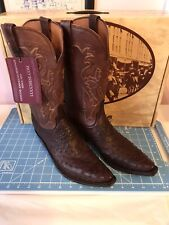 lucchese womens ostrich boots size 10 new in box