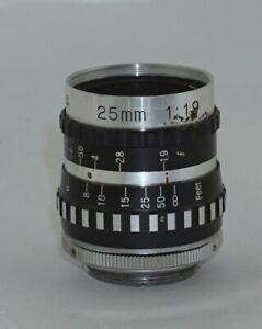 Sylvania 25mm f1.9 C Mount Cine Lens