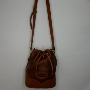 Rancho Dorado Leather Drawstring Bucket Purse Bag Adjustable Strap Original Bag