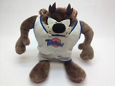 "VTG Tazmanian Devil Plush in Tune Squad Jersey Space Jam 10"" Taz Doll 90s RARE"