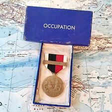 WWII US NAVY OCCUPATION SERVICE MEDAL ASIA CLASP BAR US MINT BOX PERIOD ORIGINAL
