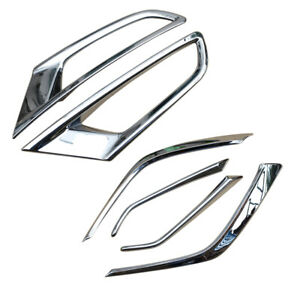 Accessories For Mazda CX3 2016-2020 Front+Rear Fog Light Lamp Cover Trim Chrome