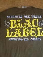 Blac Label Xl Mens Tee Shirt Short Sleeve Embroidered Studded Design