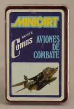 1974 Naipes Comas cards - JET FIGHTERS - Spanish FULL mini deck (24 cards)