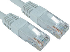 RJ45 cat 6 network lead utp pvc inj moulded cable white 30mtr