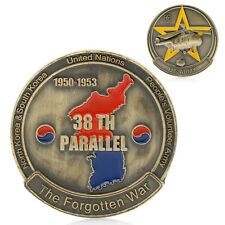 The 38TH PARALLEL KOREAN WAR The Forgotten War 1950-1953 Commemorative Coin New