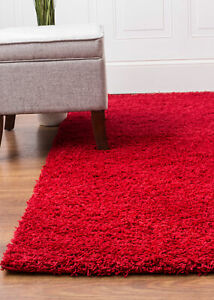Cranberry Red Shag Rug in Many Sizes Fluffy Shag Rug for Home Decor
