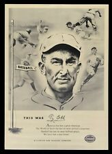 1961 Ty Cobb Louisville Slugger Baseball Bats Point of Sale Display Ad Poster