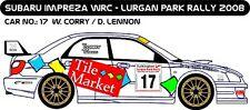 DECALS 1/43 SUBARU IMPREZA WRC #17- CORRY - RALLYE LURGAN PARK 2008 - MFZ D43201