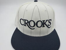 Crooks and Castles White Hipster Adult Custom Snapback Hat Cap