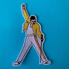 RETRO FREDDIE MERCURY MUSIC ROCK BAND  ICON QUEEN EMBROIDERED PATCH SEW IRON ON