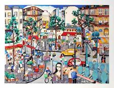 """""""LEFT BANK AFTERNOON (PARIS, FRANCE)"""" by Linnea PERGOLA. MINT SERIGRAPH ON PAPER"""
