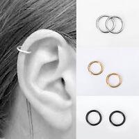 2PC Stainless Steel Hinged Clicker Septum Segment Hoop Ring Ear Lip Nose X6Z7