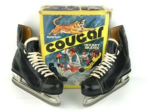American Cougar Mens Hockey Ice Skates Size 12 Vintage NOS w/ Box Style 8060