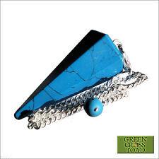 Turquoise Howlite Point Crystal Dowsing Pendulum Dowser Scrying Radiesthesia