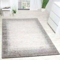 Modern Rug 80x150 Beige Cream Grey New Mat 120x170 Bedroom Floor Carpet 160x230