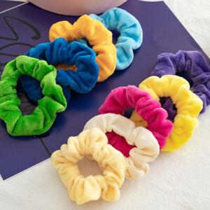 Women Velvet Candy Color Ponytail Holder Hair Accessories Velvet Hair Scrunchies
