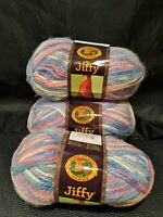 (3) NEW LION BRAND JIFFY YARN Quick & Easy MOHAIR Look 100% Acrylic 330 SALEM