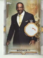 2020 WWE Road to Wrestlemania Booker T shirt relic /199