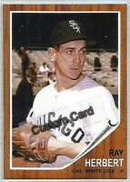 RAY HERBERT CHICAGO WHITE SOX 1962 STYLE CUSTOM MADE BASEBALL CARD BLANK BACK