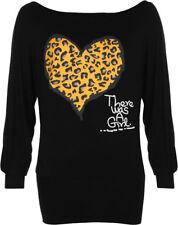 Damenblusen, - tops & -shirts aus Viskose mit Leoparden Normalgröße