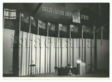 Vintage Erde Photo of Conference Palmach Yitzhak Sadeh Israel Jewish Art Judaica