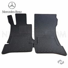 Genuine 09-14 C Class Mercedes Benz Factory Rubber Floor Mats OEM Factory BLACK