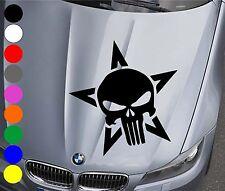 WD Autoaufkleber THE PUNISHER TOTENKOPF Aufkleber Motorhaube Sticker Heckscheibe
