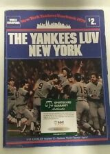 Autographed 1979 Ny Yankees Yearbook Hof'Ers B. Lemon/ P. Rizzuto/ E. Howard